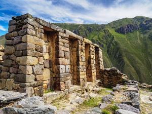 Inca Temple Ruins, Ollantaytambo, Sacred Valley, Cusco Region, Peru, South America by Karol Kozlowski