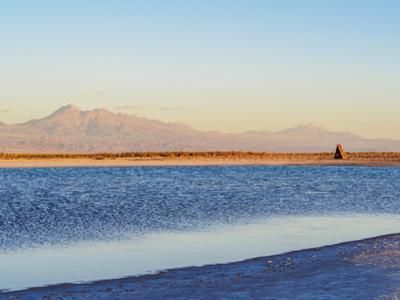 Laguna Piedra at sunset, Salar de Atacama, Antofagasta Region, Chile, South America by Karol Kozlowski