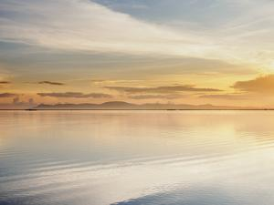 Lake Titicaca at sunrise, Puno, Peru, South America by Karol Kozlowski