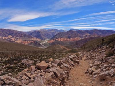Landscape of surrounding mountains, Tilcara, Jujuy Province, Argentina, South America by Karol Kozlowski