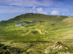 Landscape of the Caldeirao do Corvo, Corvo, Azores, Portugal, Atlantic, Europe by Karol Kozlowski