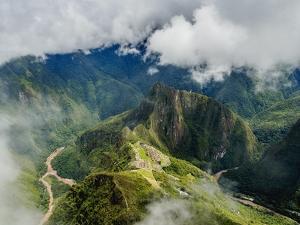 Machu Picchu Ruins seen from the Machu Picchu Mountain, UNESCO World Heritage Site, Cusco Region, P by Karol Kozlowski