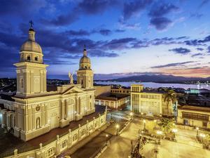 Nuestra Senora de la Asuncion Cathedral at dusk, Cuba by Karol Kozlowski
