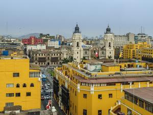 Old Town and Cathedral, elevated view, Lima, Peru, South America by Karol Kozlowski