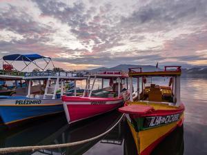 Sunrise over the port in Paraty, State of Rio de Janeiro, Brazil, South America by Karol Kozlowski