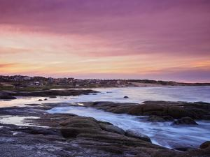 Sunset over Punta del Diablo, Rocha Department, Uruguay, South America by Karol Kozlowski