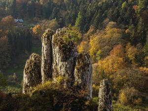 The Glove Rock Formation, Ojcow National Park, Krakow-Czestochowa Upland (Polish Jura), Poland by Karol Kozlowski