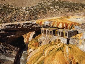 The Inca Bridge (Puente del Inca), Central Andes, Mendoza Province, Argentina, South America by Karol Kozlowski