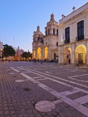 Twilight view of the Cathedral of Cordoba, Cordoba, Argentina, South America by Karol Kozlowski