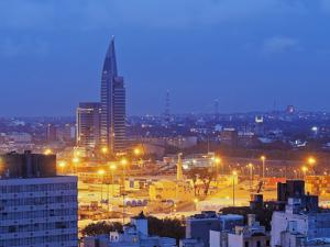Twilight view towards the Antel Tower, Montevideo, Uruguay, South America by Karol Kozlowski
