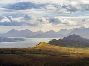 UK, Scotland, Highlands, Isle of Skye, Landscape of the island seen from The Storr. by Karol Kozlowski