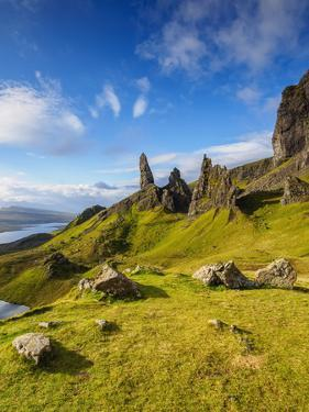 UK, Scotland, Highlands, Isle of Skye, View of the Old Man of Storr. by Karol Kozlowski