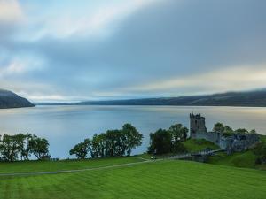Urquhart Castle and Loch Ness, Highlands, Scotland, United Kingdom, Europe by Karol Kozlowski