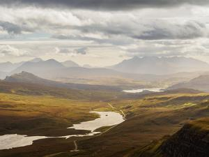 View from The Storr towards the Loch Leathan, Isle of Skye, Inner Hebrides, Scotland, United Kingdo by Karol Kozlowski