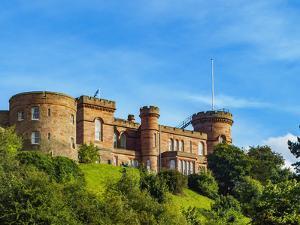View of Inverness Castle, Inverness, Highlands, Scotland, United Kingdom, Europe by Karol Kozlowski