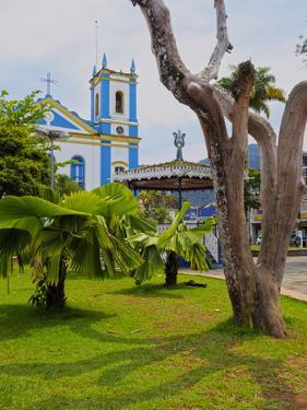 View of the Exaltacao da Santa Cruz Church, Ubatuba, State of Sao Paulo, Brazil, South America by Karol Kozlowski