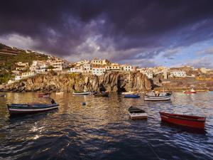 View of the fishing port in Camara de Lobos, Madeira, Portugal, Atlantic, Europe by Karol Kozlowski