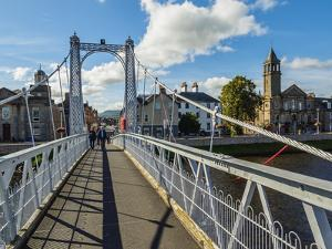 View of the Greig Street Bridge, Inverness, Highlands, Scotland, United Kingdom, Europe by Karol Kozlowski