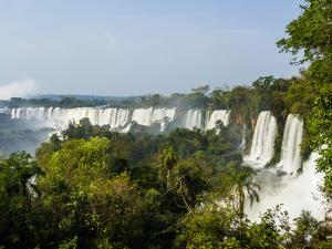 View of the Iguazu Falls, UNESCO World Heritage Site, Puerto Iguazu, Misiones, Argentina, South Ame by Karol Kozlowski