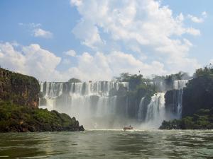 View of the Iguazu Falls, UNESCO World Heritage Site, Puerto Iguazu, Misiones, Argentina, South Ame by Karol Kozlowski