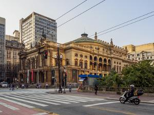 View of the Municipal Theatre, City of Sao Paulo, State of Sao Paulo, Brazil, South America by Karol Kozlowski
