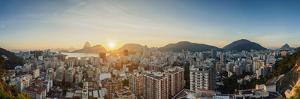View over Botafogo towards the Sugarloaf Mountain at sunrise, Rio de Janeiro, Brazil, South America by Karol Kozlowski