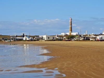 View over the beach towards the lighthouse, Cabo Polonio, Rocha Department, Uruguay, South America by Karol Kozlowski