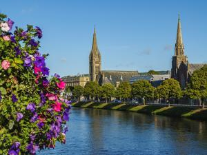 View over the River Ness towards the St. Columba and Free North Churches, Inverness, Highlands, Sco by Karol Kozlowski