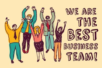 Best Business Team Happy Workers Color by Karrr