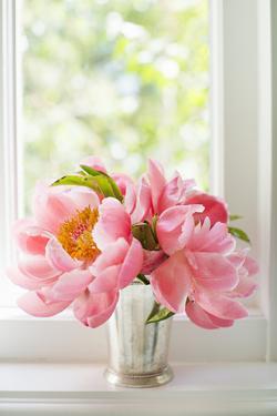 Peonies in Vase II by Karyn Millet