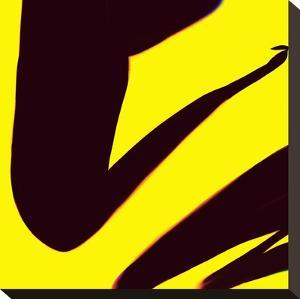 Black And Yellow Abstract by Kasi Minami