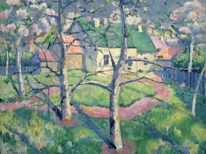 Apple Trees in Bloom, 1904 by Kasimir Malevich