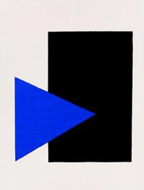 Black Rectangle, Blue Triangle, c.1915 by Kasimir Malevich