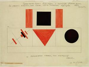Design for the Speaker's Rostrum, 1919 by Kasimir Malevich