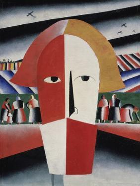 Head of a Peasant, c.1930 by Kasimir Malevich