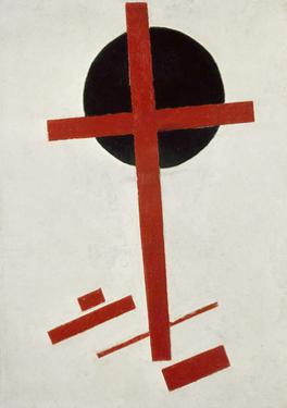 Red Cross on Black Circle, after 1914 by Kasimir Malevich