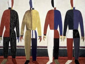 The Sportsmen by Kasimir Malevich