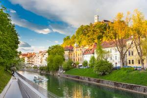 Medieval Houses of Ljubljana, Slovenia, Europe. by kasto