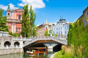 Romantic Medieval Ljubljana, Slovenia, Europe. by kasto