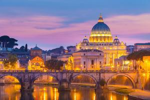 View at St. Peter's Cathedral in Rome, Italy by kasto