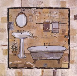 Vintage Bath Time I by Kate and Liz Pope