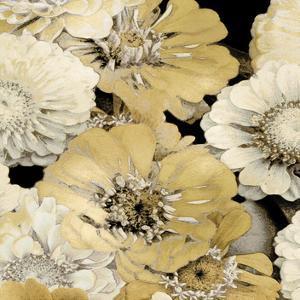 Floral Abundance in Gold I by Kate Bennett