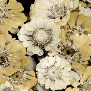 Floral Abundance in Gold III by Kate Bennett