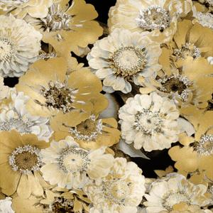 Floral Abundance in Gold IV by Kate Bennett