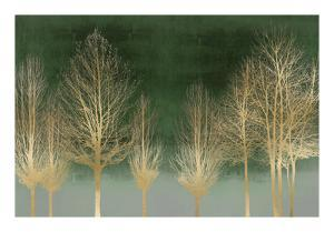 Gold Forest on Green by Kate Bennett