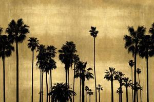 Palm Row on Gold by Kate Bennett