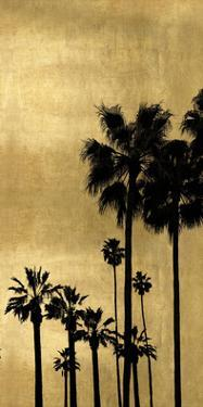 Palm Silhouette on Gold II by Kate Bennett