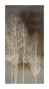 Trees on Brown Panel I by Kate Bennett