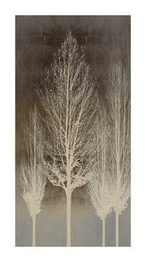 Trees on Brown Panel II by Kate Bennett