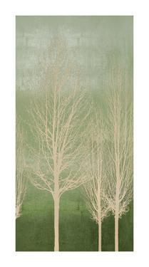 Trees on Green Panel II by Kate Bennett